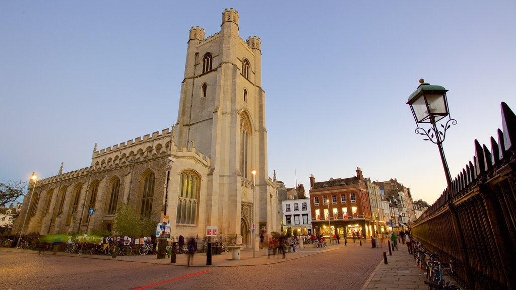 Church of St Mary the Great featuring heritage elements, heritage architecture and street scenes