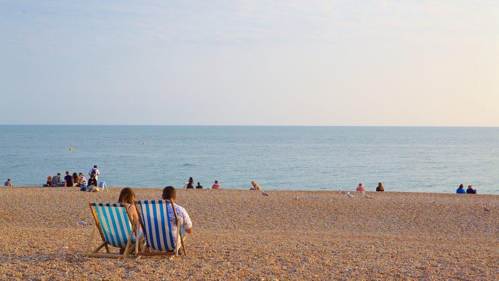 Brighton Beach featuring a pebble beach as well as a couple