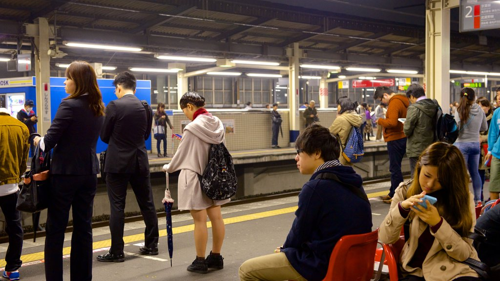 Urayasu which includes railway items as well as a large group of people