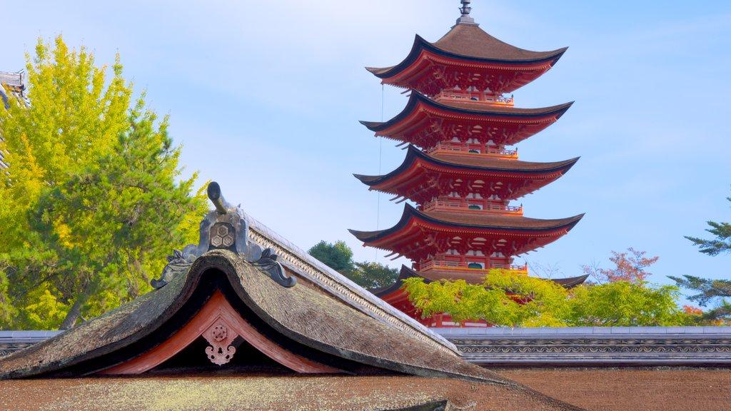 Itsukushima Shrine which includes heritage elements