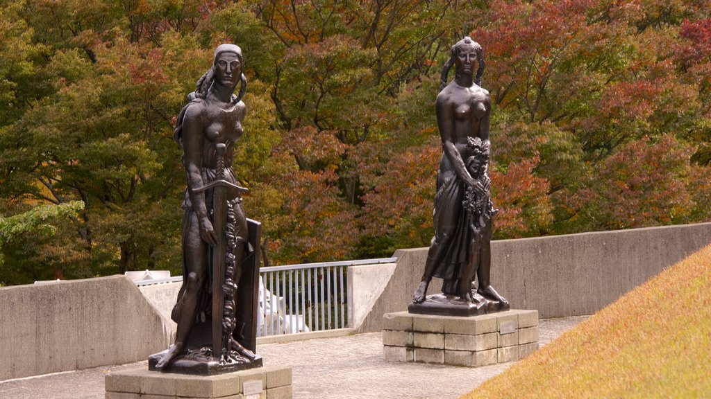 Hakone Open Air Museum showing a statue or sculpture