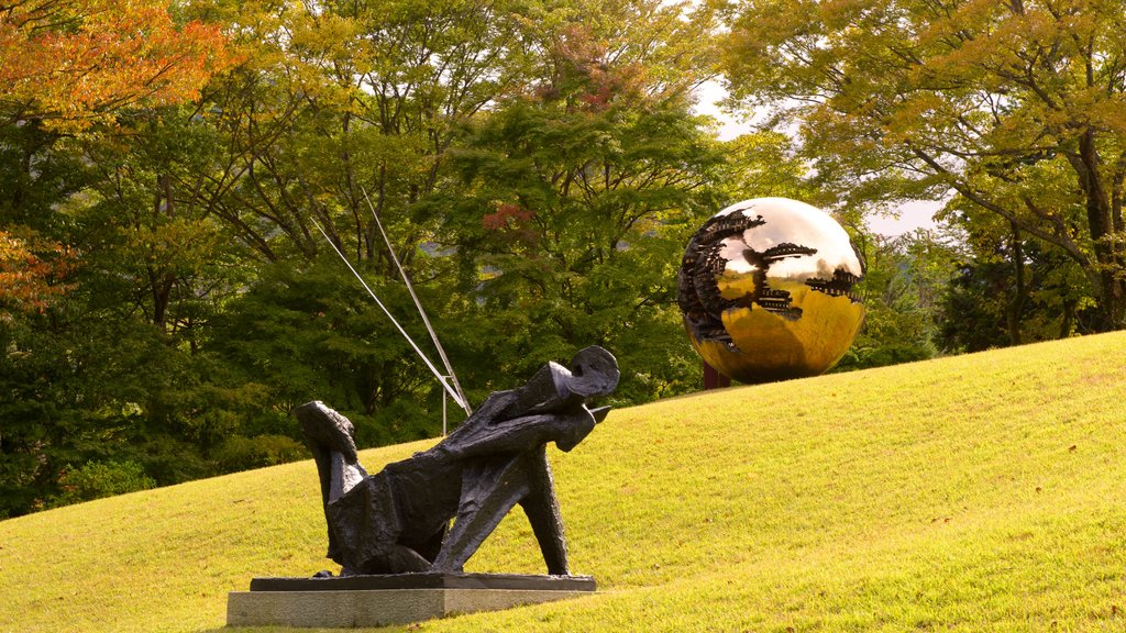 Hakone Open Air Museum which includes a park and a statue or sculpture