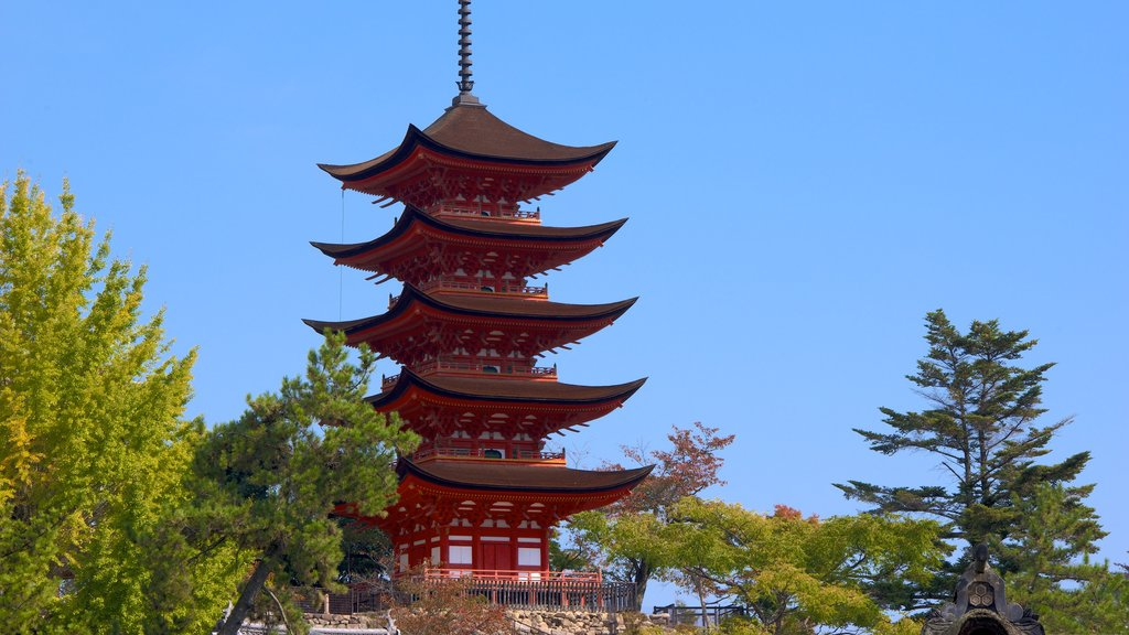 Five-Story Pagoda showing a temple or place of worship