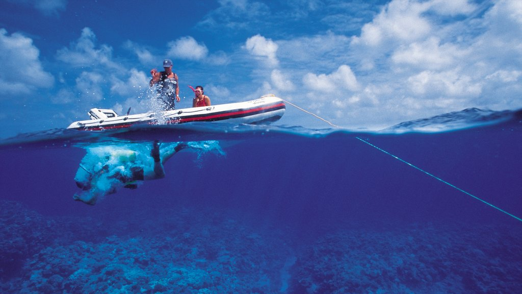 Niue which includes boating, diving and coral
