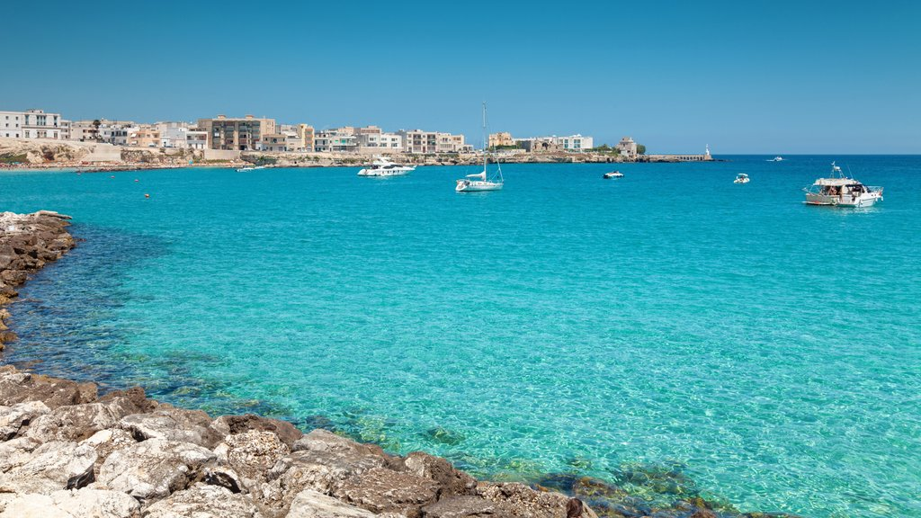 Otranto showing rugged coastline