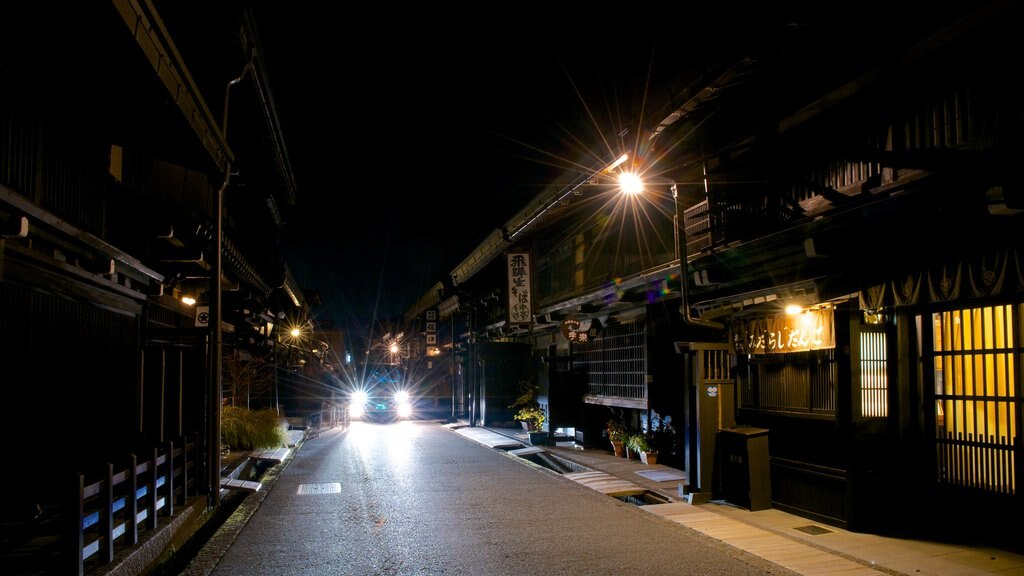 Takayama which includes night scenes
