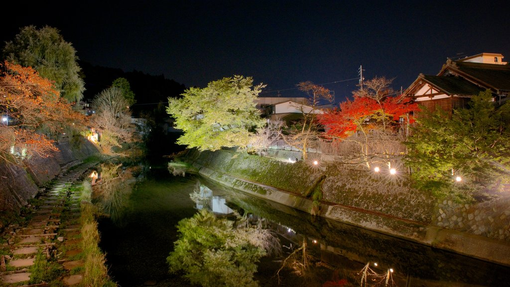 Takayama which includes a river or creek and night scenes