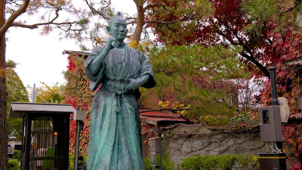 Takayama Jinya featuring a statue or sculpture