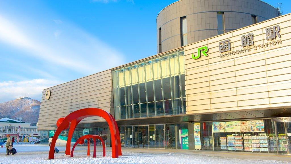 Hakodate ofreciendo nieve y arte al aire libre