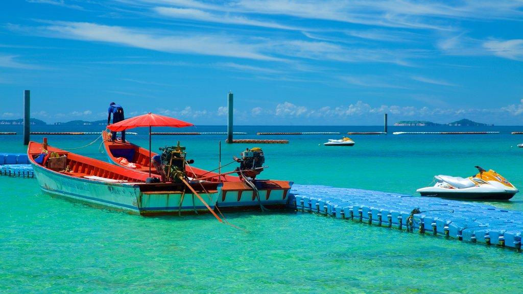 Samae Beach showing general coastal views and boating
