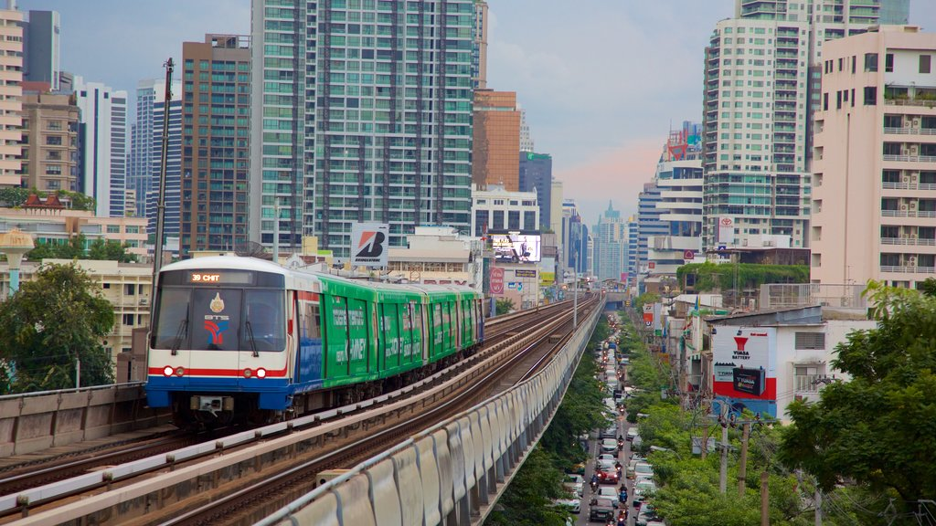 Sukhumvit which includes vehicle touring and cbd