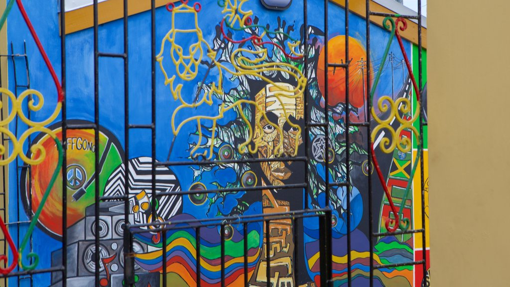 Bob Marley Museum showing outdoor art