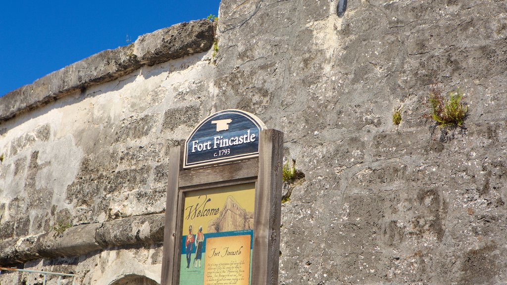 Fort Fincastle showing heritage elements and signage