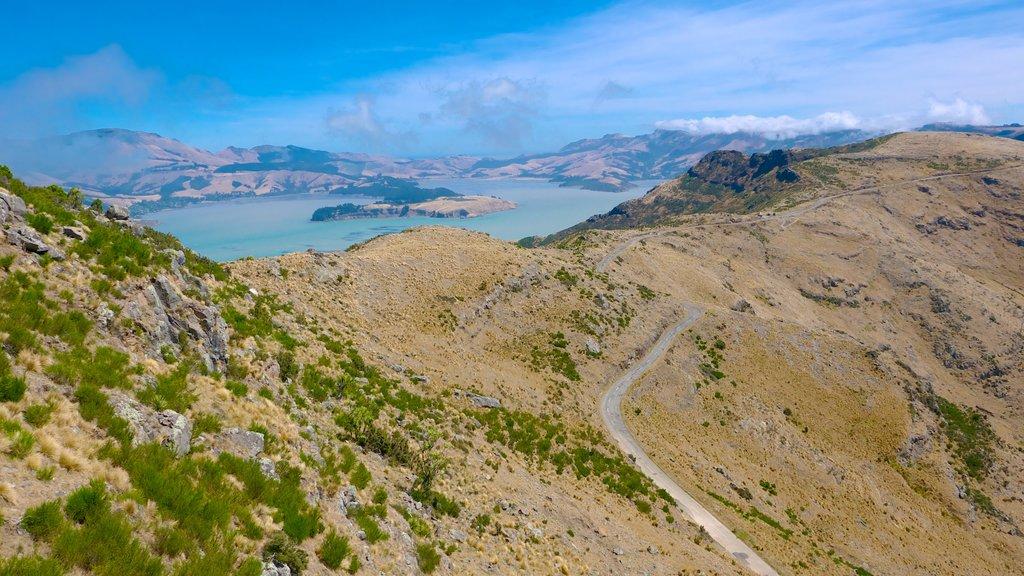 Christchurch Gondola showing landscape views and mountains