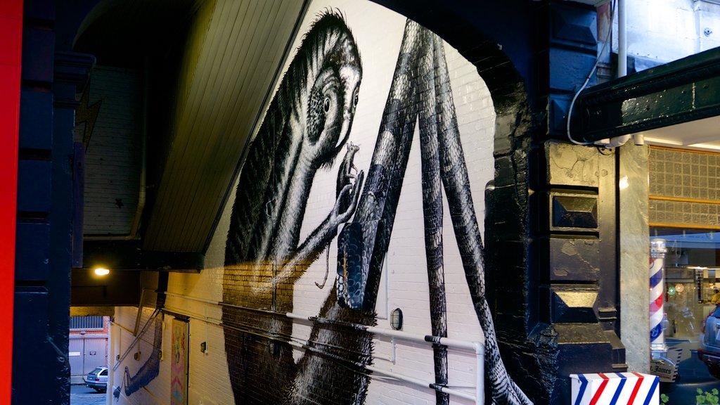 Dunedin mostrando arte al aire libre