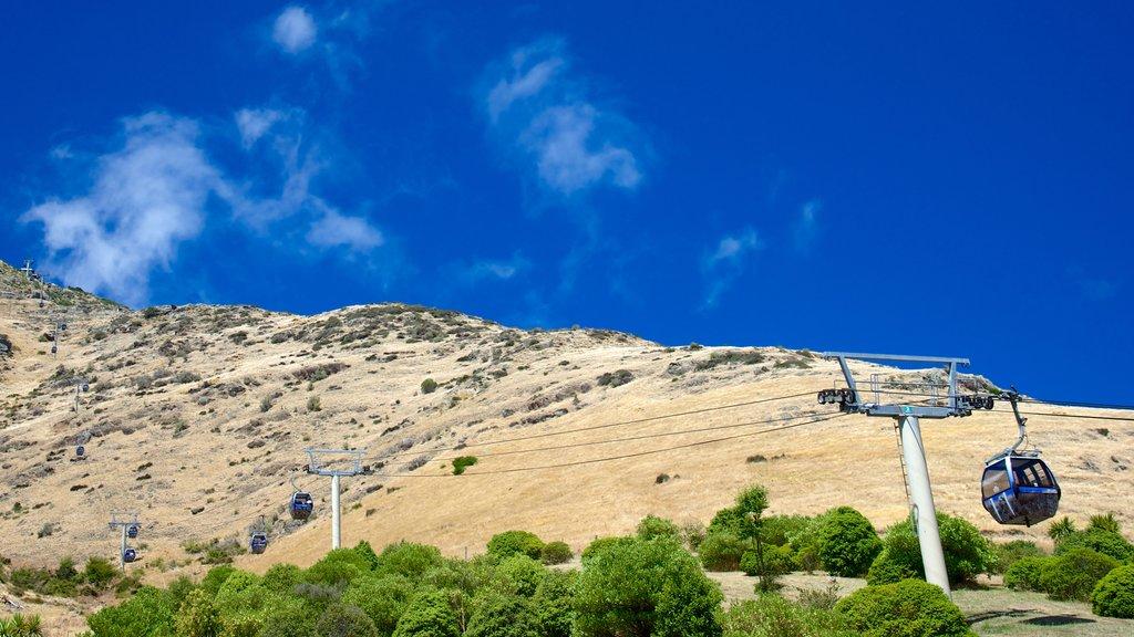 Christchurch Gondola featuring a gondola and mountains