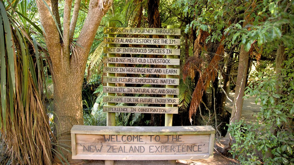Willowbank Wildlife Reserve which includes signage