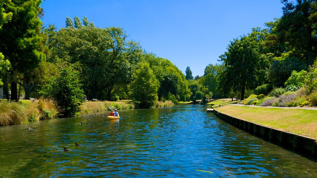 Punting on the Avon featuring a river or creek and kayaking or canoeing