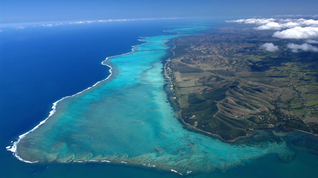 New Caledonia which includes colorful reefs