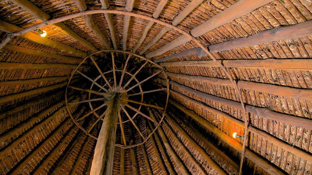 Centro Cultural Jean-Marie Tjibaou que incluye patrimonio de arquitectura y vistas interiores