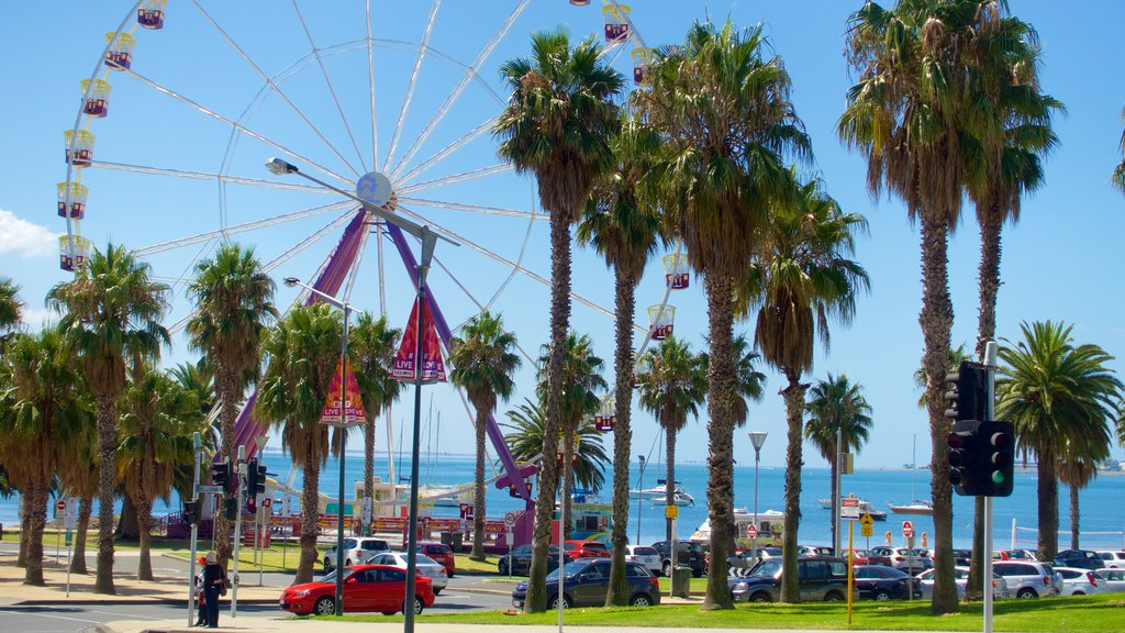 Geelong featuring general coastal views and rides