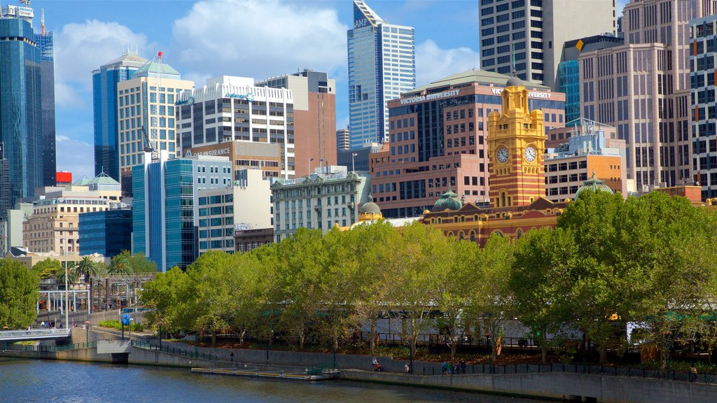 Southbank showing a river or creek and central business district