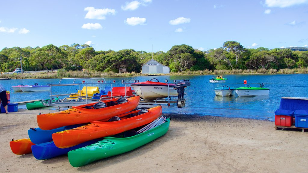 Anglesea which includes kayaking or canoeing