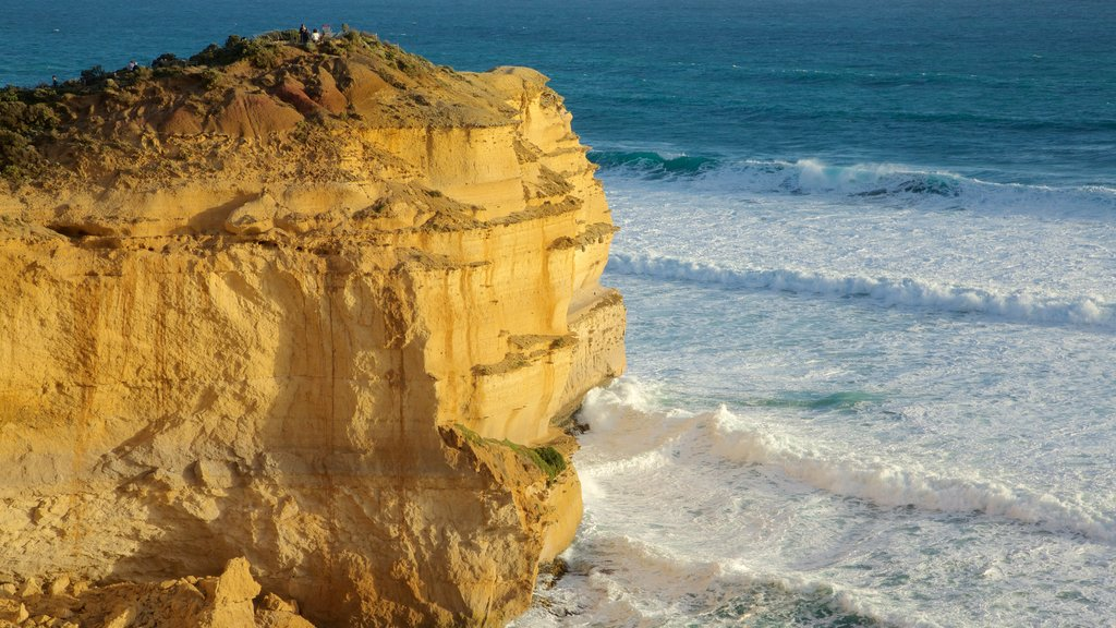 Twelve Apostles showing a gorge or canyon and rugged coastline