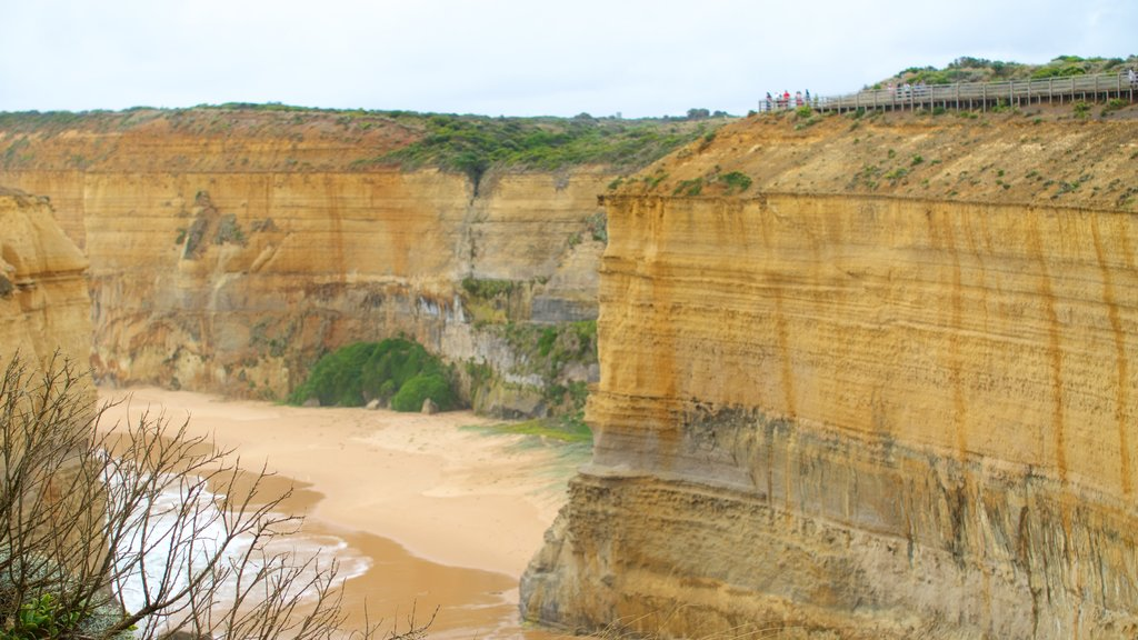 Twelve Apostles featuring a gorge or canyon and general coastal views