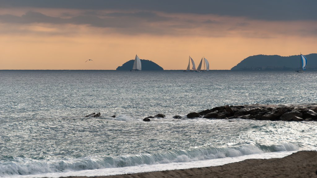 Loano featuring sailing, a sunset and general coastal views