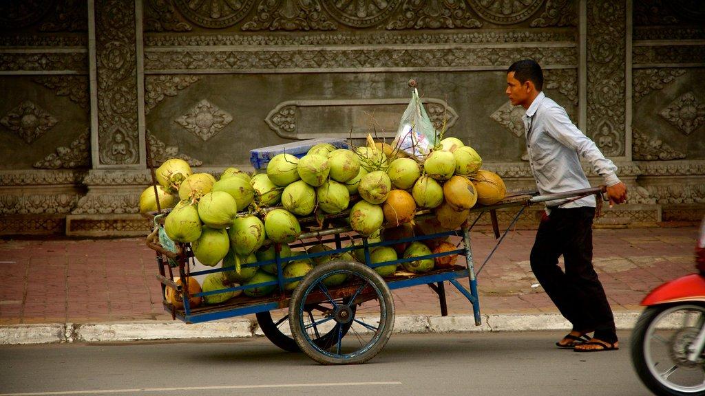 Camboya que incluye comida y también un hombre