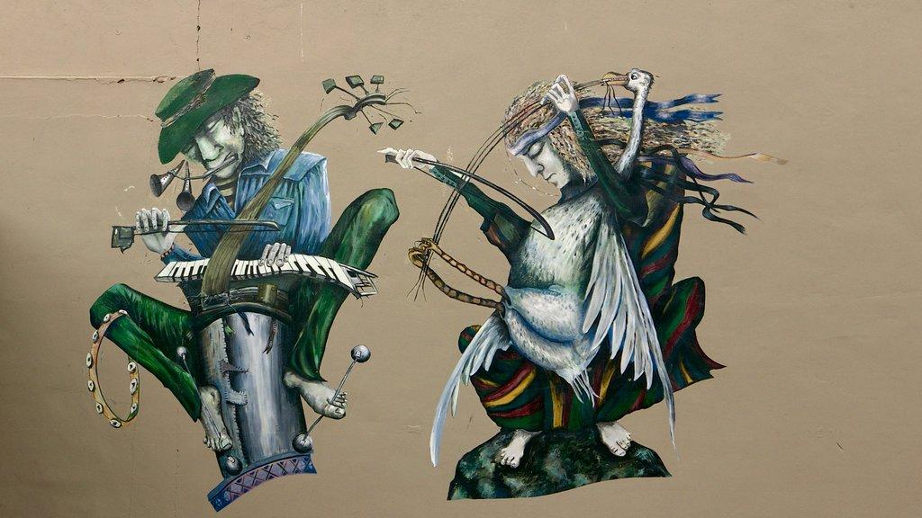 Napier showing outdoor art