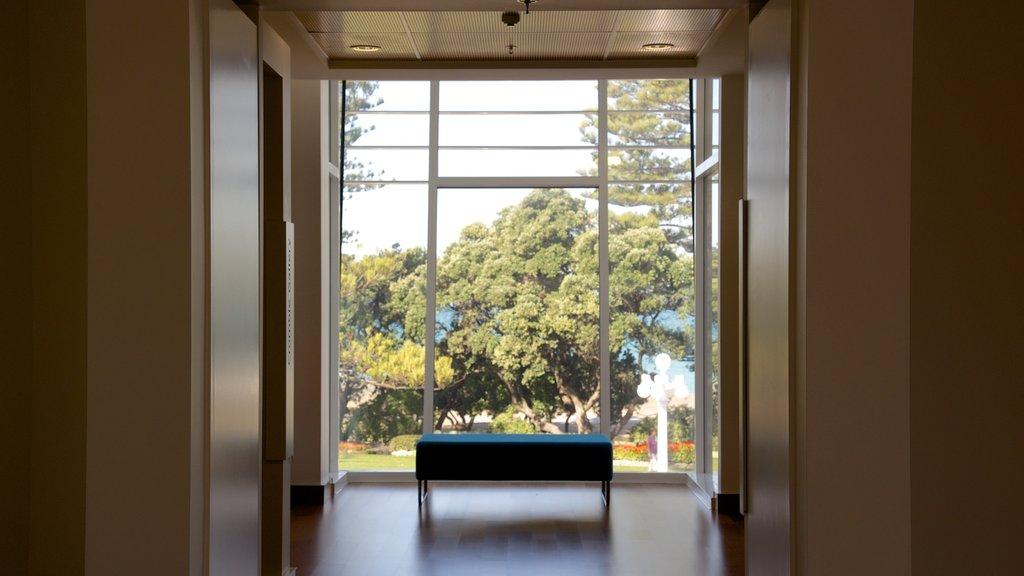 Napier ofreciendo vistas interiores