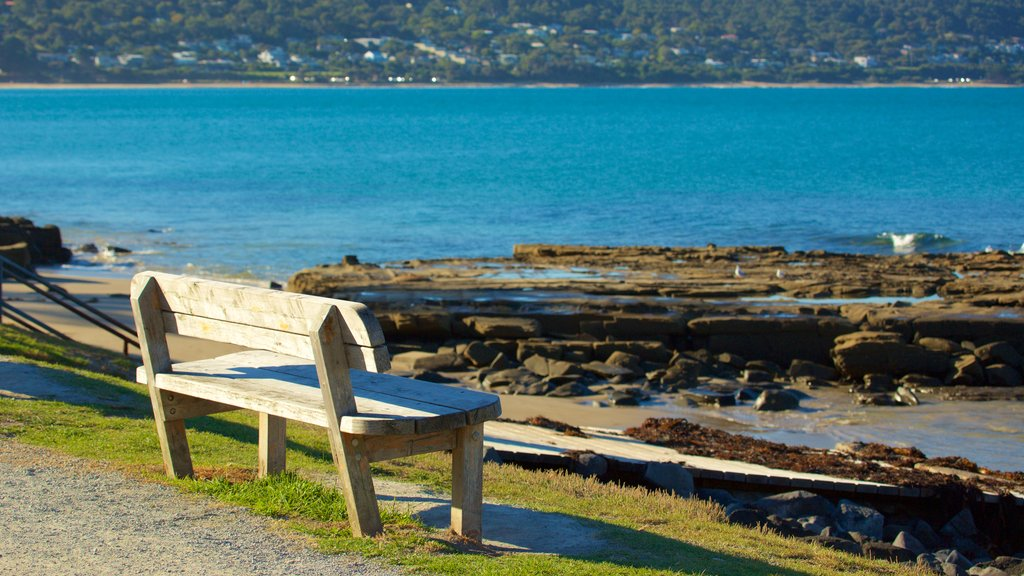 Lorne which includes rugged coastline