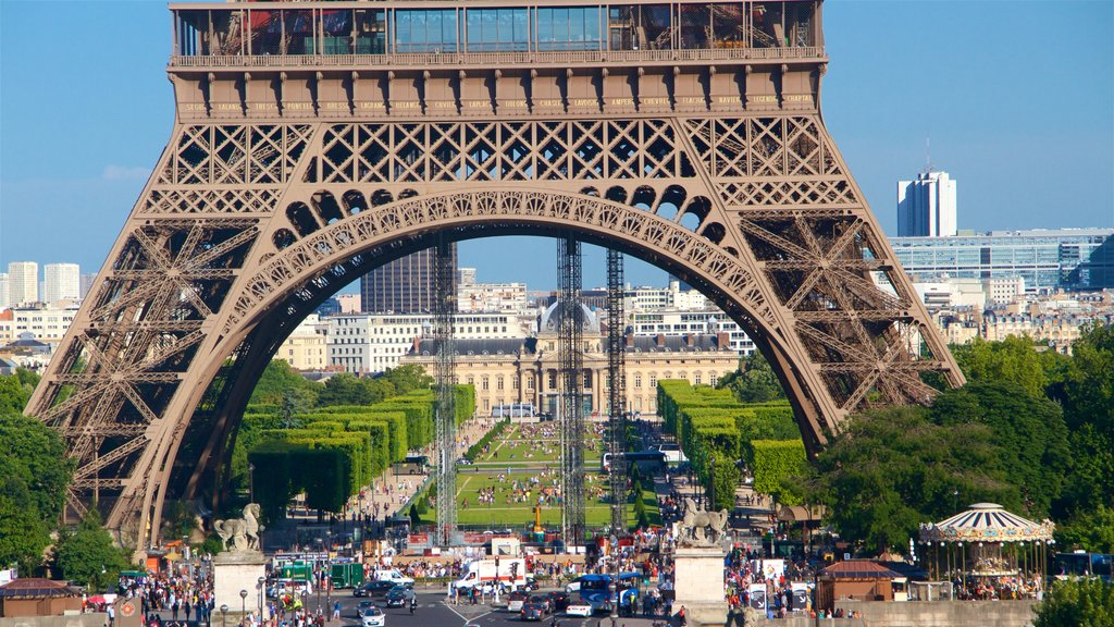 Eiffel Tower which includes a city, heritage architecture and heritage elements