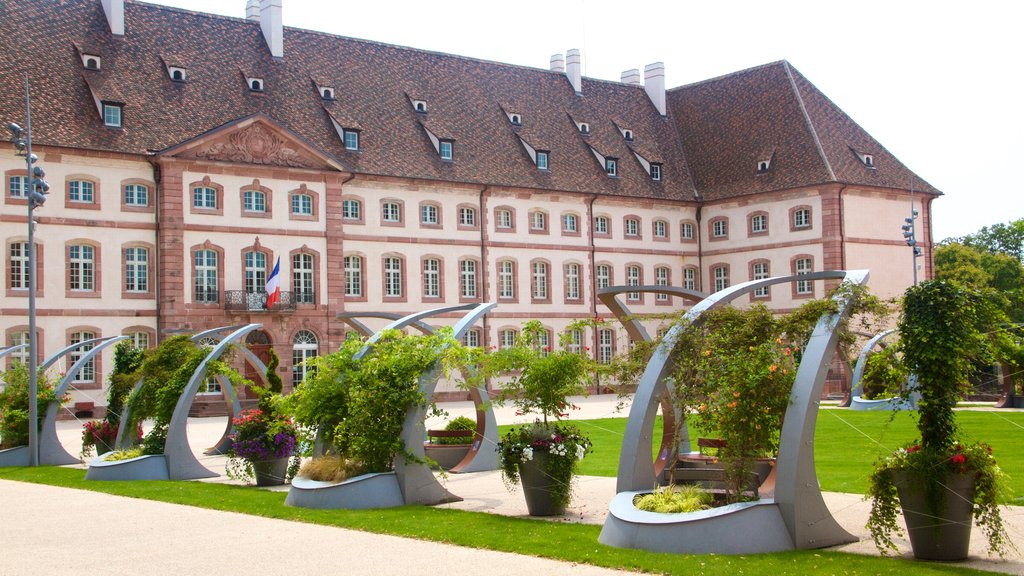 Colmar featuring heritage architecture and a garden