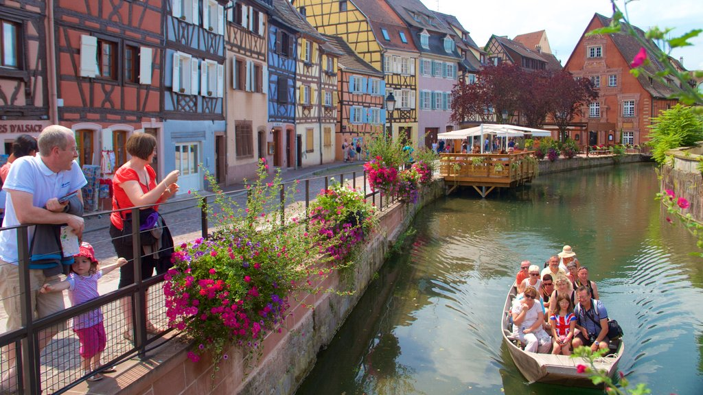Colmar featuring a city, boating and flowers