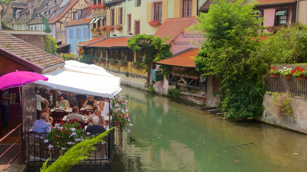 Colmar showing a river or creek, heritage elements and outdoor eating