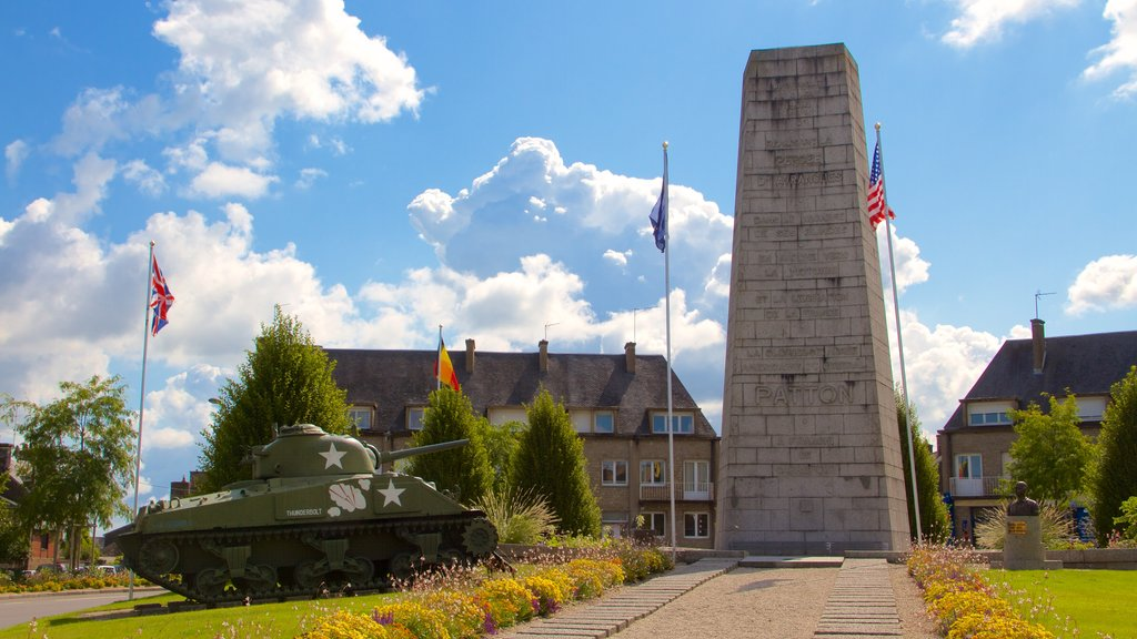 Avranches featuring military items and heritage elements