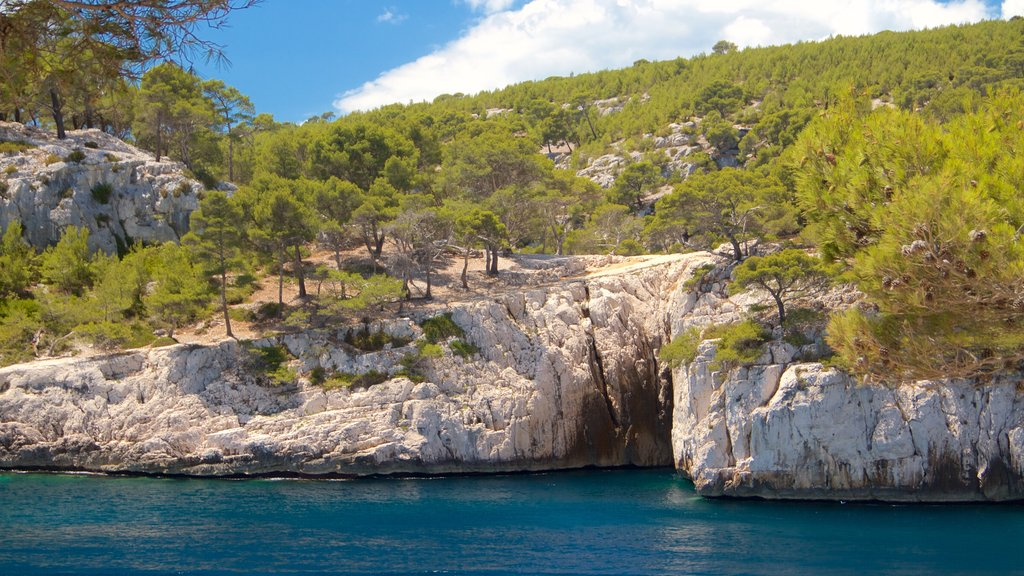 Calanques featuring tranquil scenes and a river or creek