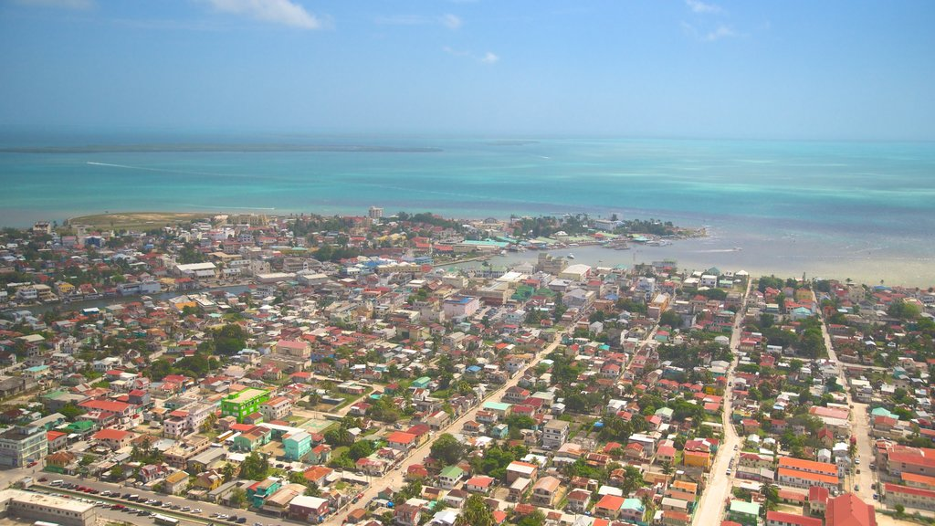 Belize showing a city and general coastal views