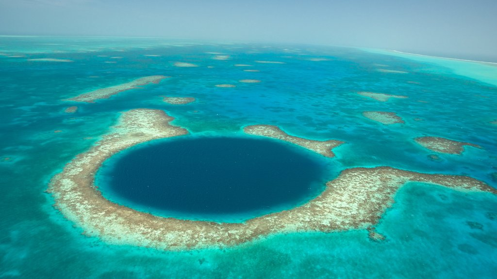 Belize which includes colorful reefs