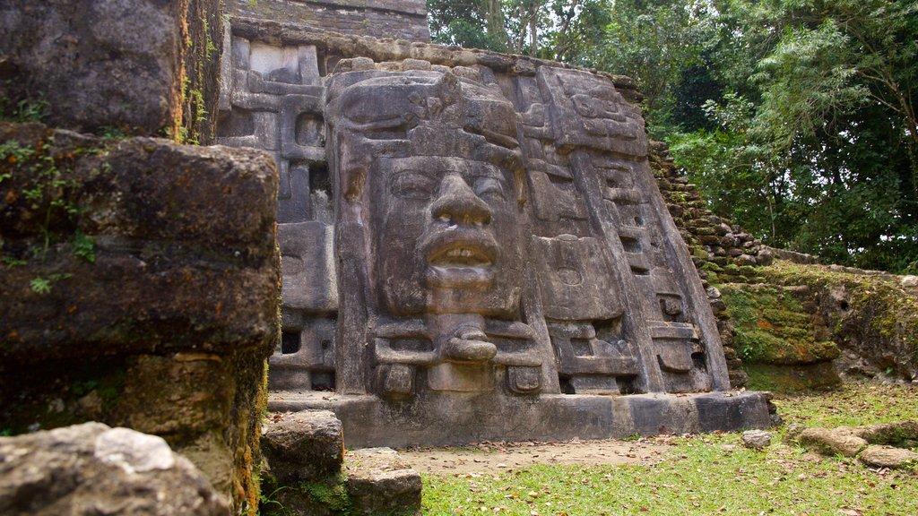 Lamanai que incluye cultura indígena y elementos del patrimonio