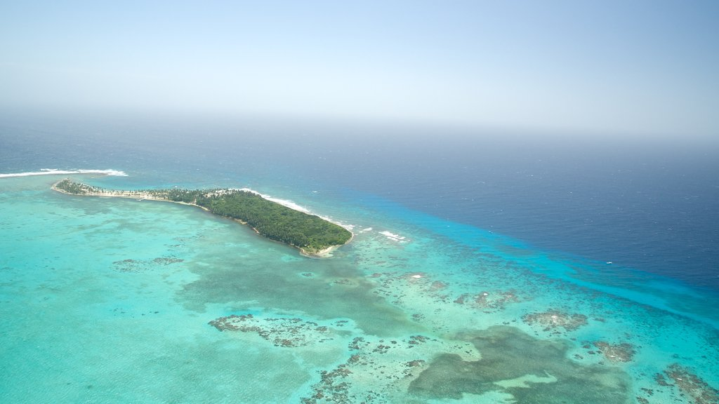 Belize showing coral, island views and general coastal views