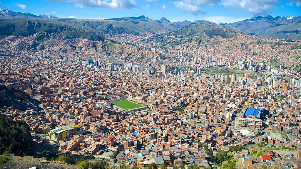 La Paz showing landscape views and a city