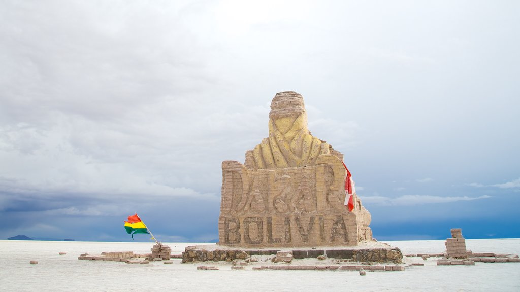Uyuni featuring a statue or sculpture and tranquil scenes