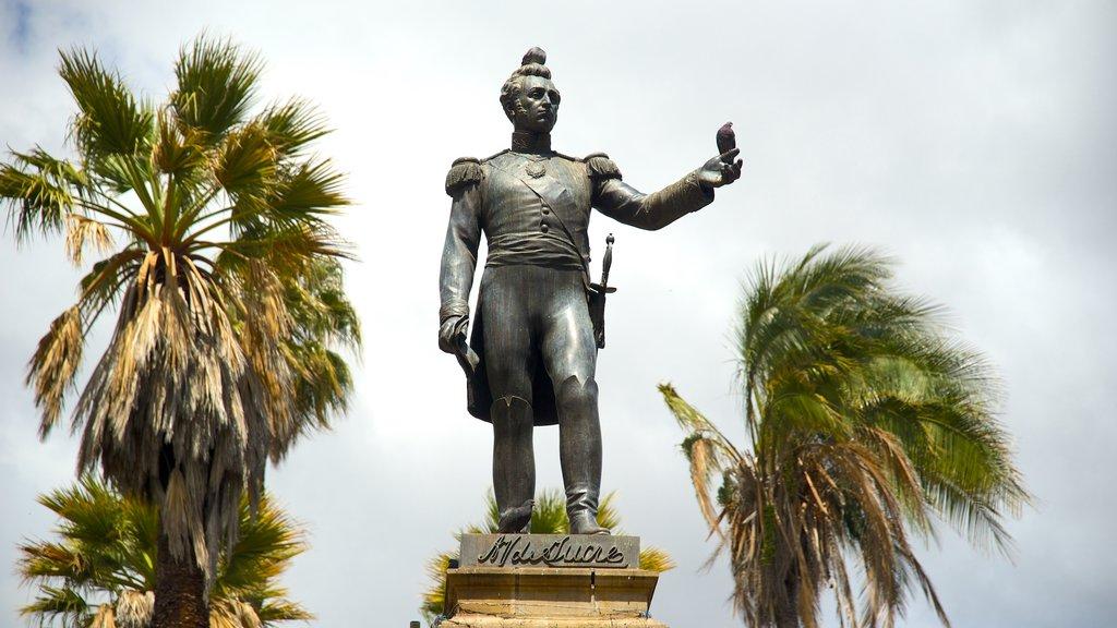 Plaza de 25 de Mayo featuring a statue or sculpture