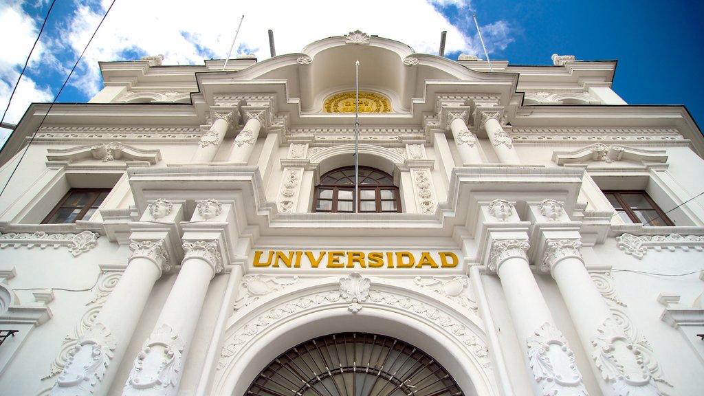 Universidad de San Francisco Xavier de Chuquisaca ofreciendo patrimonio de arquitectura y elementos del patrimonio