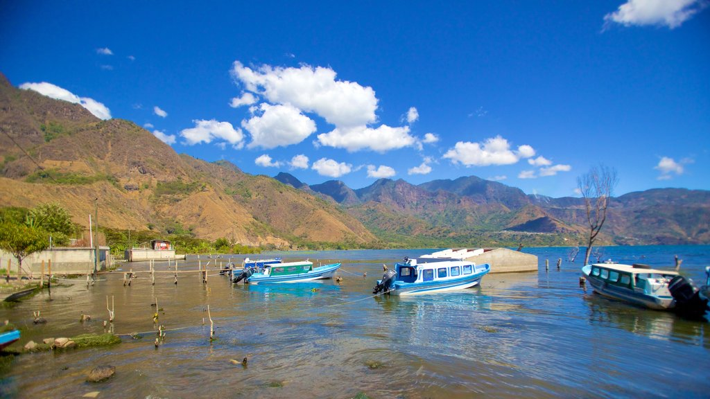 San Pedro La Laguna which includes general coastal views, a bay or harbor and boating