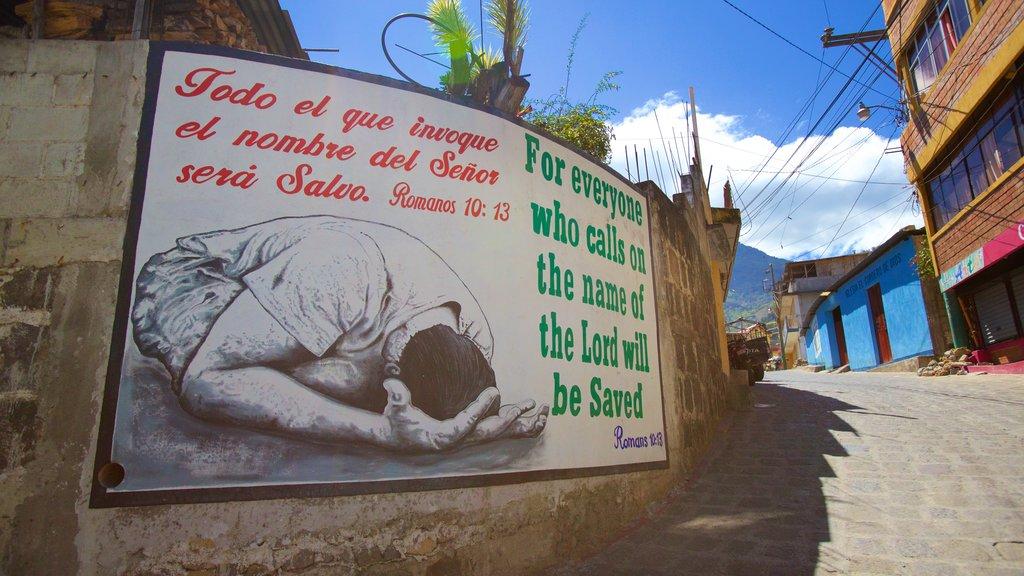 San Pedro La Laguna showing signage